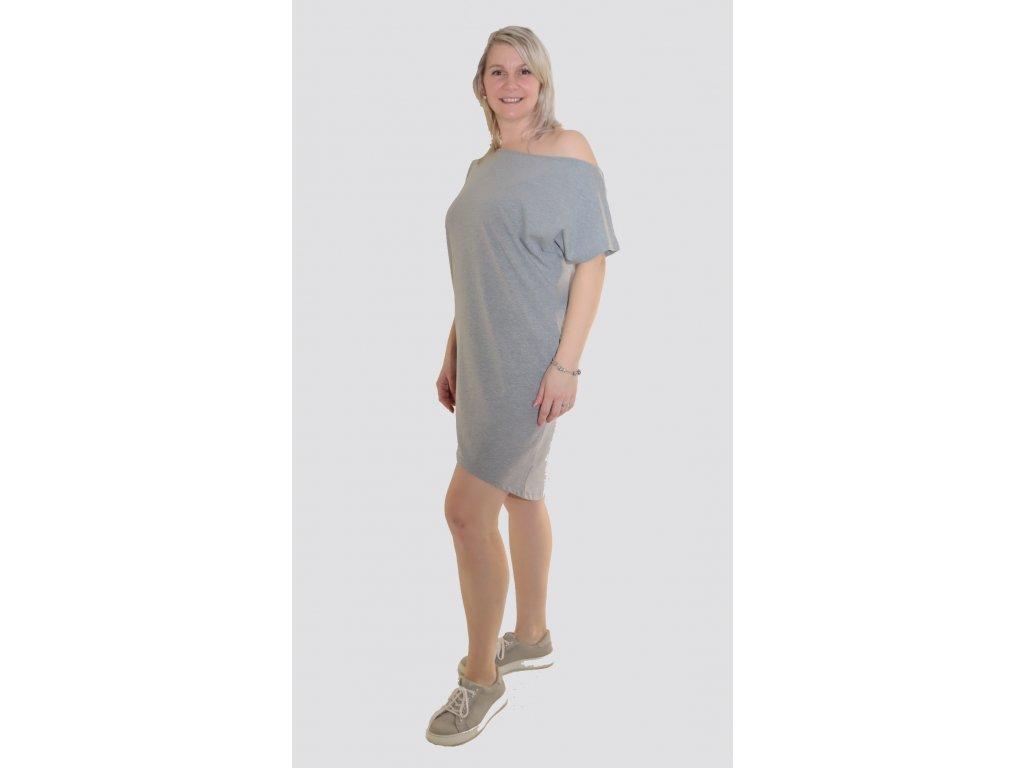 Dámské šaty přepadlé rameno - více barev