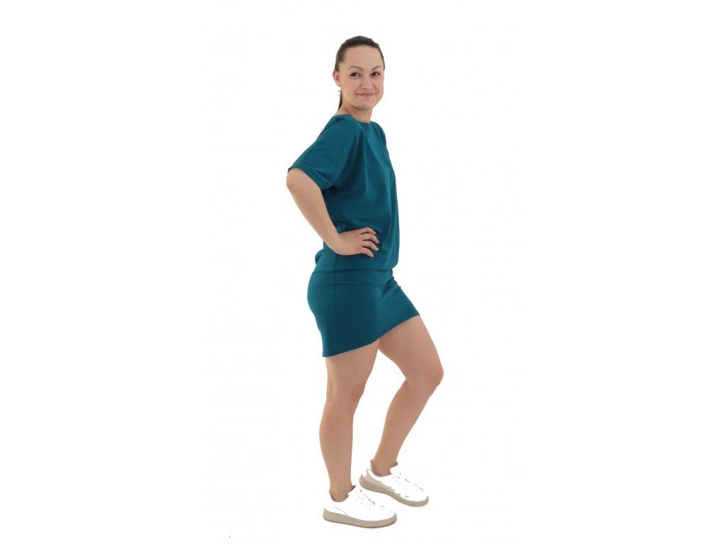 Dámské šaty krátký rukáv - více barev