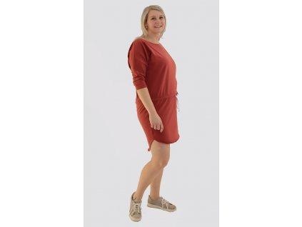 Dámské šaty 3/4 rukáv - více barev