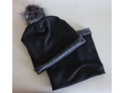 Dětská zimní čepice + nákrčník