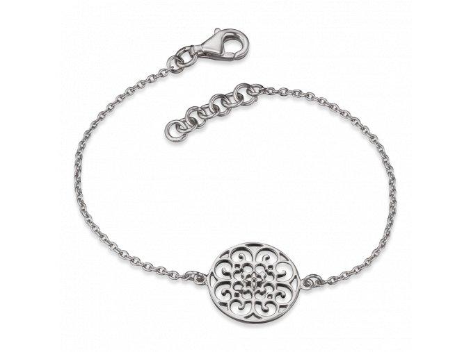 Stříbrný náramek s ornamentem