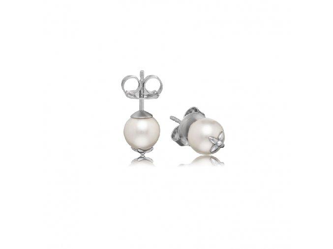 Stříbrné náušnice s perlou