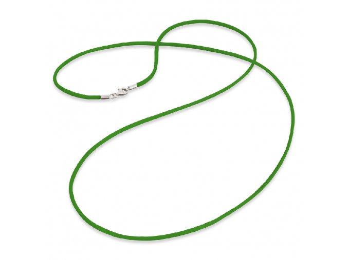 Zelená saténová šňůrka