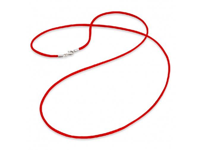 Červená saténová šňůrka