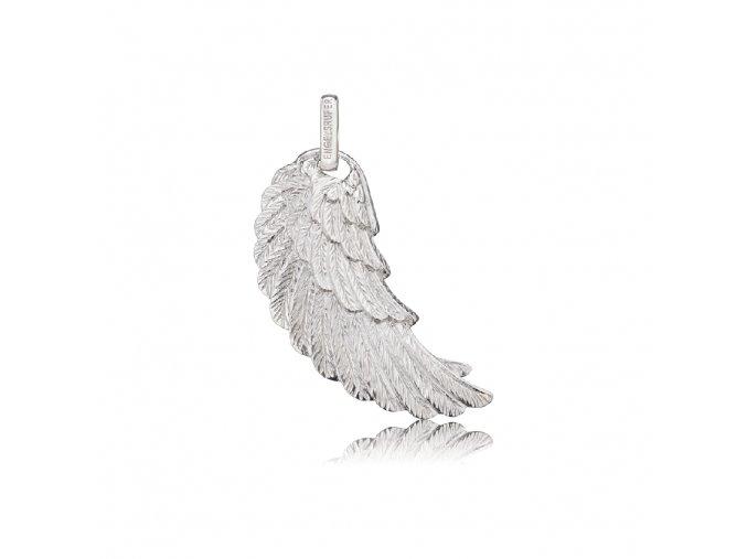 Stříbrné andělské křídlo L