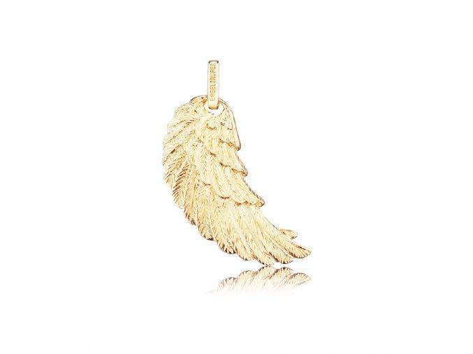 Zlacené andělské křídlo L