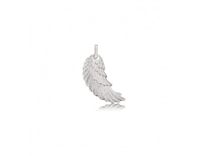 Stříbrné andělské křídlo M