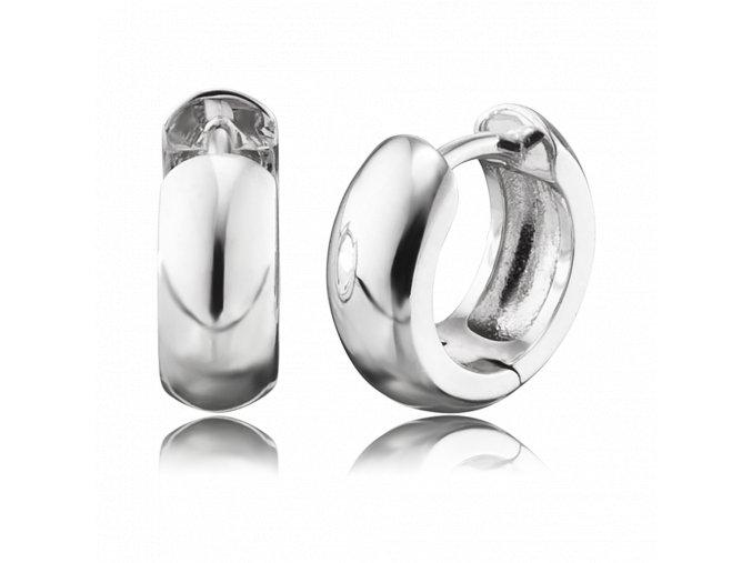 Stříbrné kruhové náušnice ANNA
