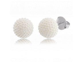Stříbrné náušnice pecky se sladkovodními perlami