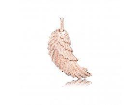 Stříbrné andělské křídlo L rosé