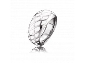 Stříbrný prsten z bílého smaltu
