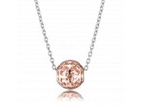 Stříbrný náhradelník s rosé kuličkou