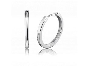 Tenké stříbrné kruhové náušnice LISA