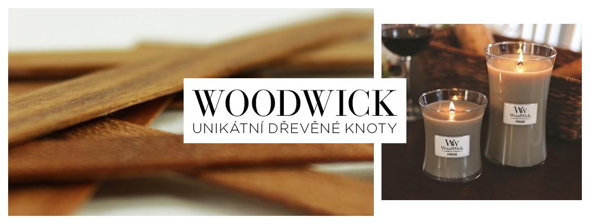 Unikátní dřevěné knoty WoodWick