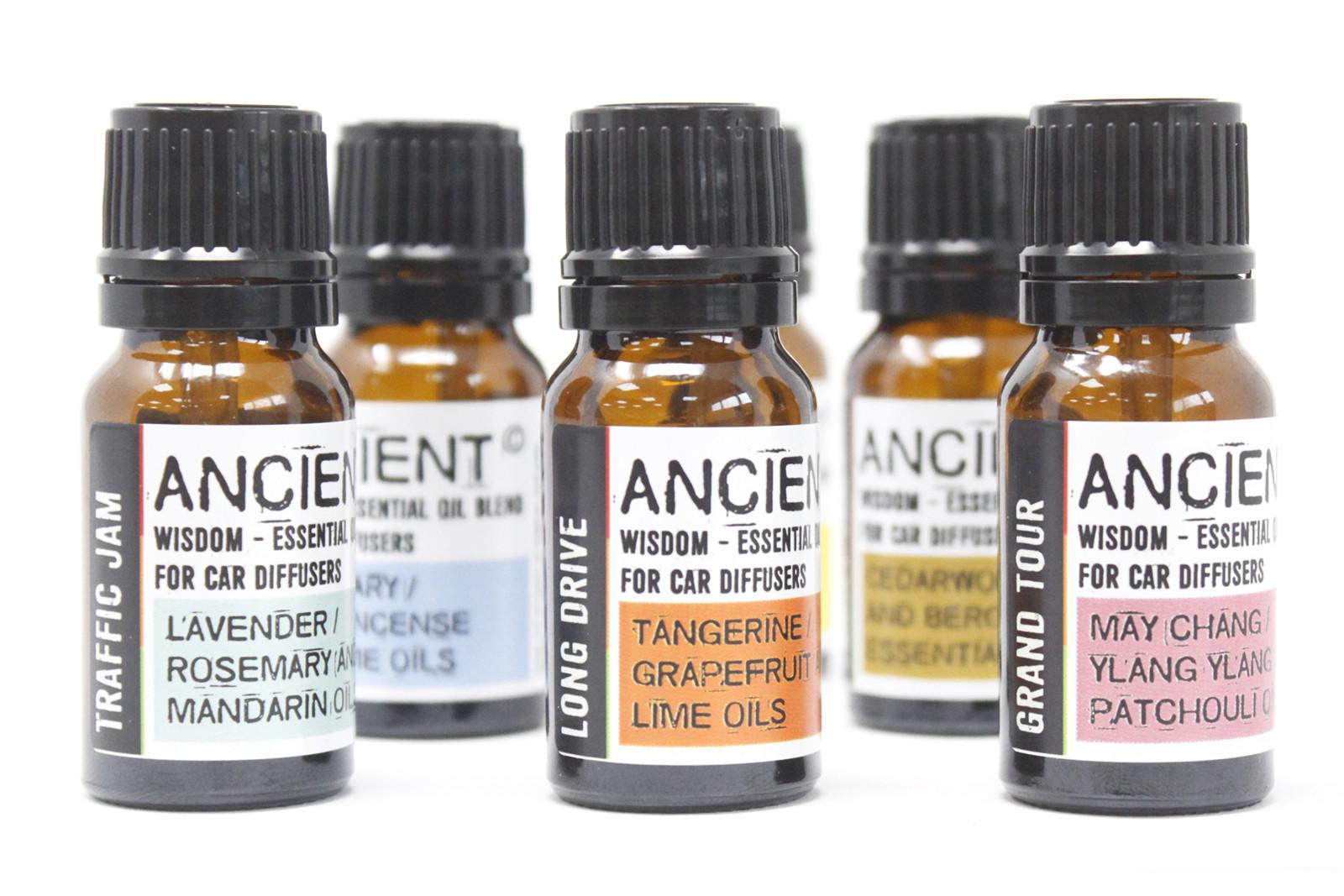 Aroma terapeutické směsi pro aroma difuzéry do auta