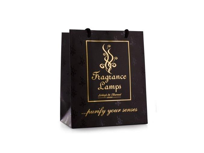 Černá dárková taška Ashleigh & Burwood 22 x 26 x 13 cm