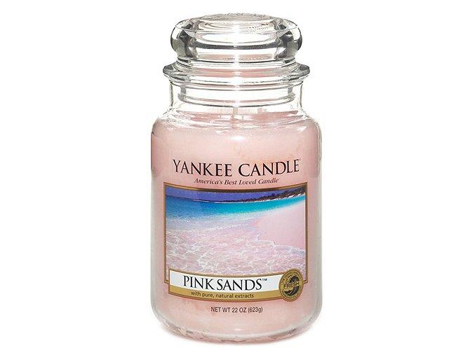 Vonná svíčka ve skleněné dóze Růžové písky - Pink Sands, 623 g