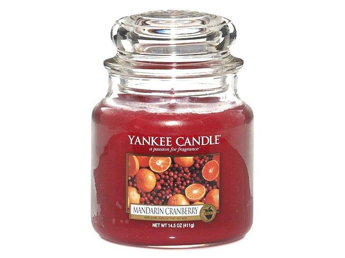 Yankee Candle Vonná svíčka Mandarinky s brusinkami (Mandarin Cranberry), 411 g.