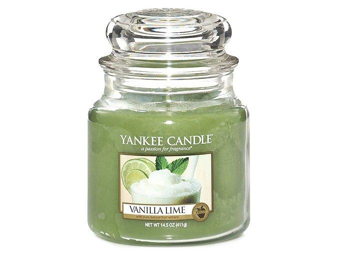 Vonná svíčka ve skleněné dóze Vanilka s limetkami - Vanilla Lime, 411 g