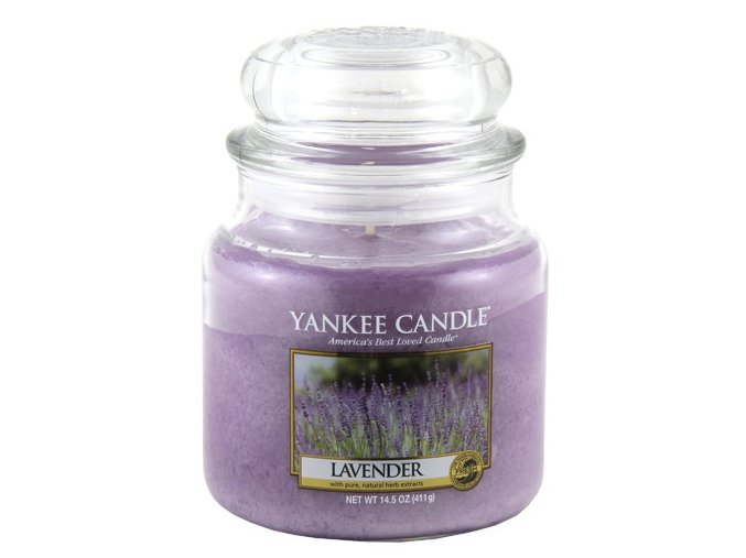 Vonná svíčka ve skleněné dóze Levandule - Lavender, 411 g