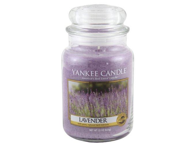 Vonná svíčka ve skleněné dóze Levandule - Lavender, 623 g