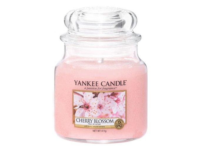 Vonná svíčka ve skleněné dóze Třešňový květ - Cherry Blossom, 411 g
