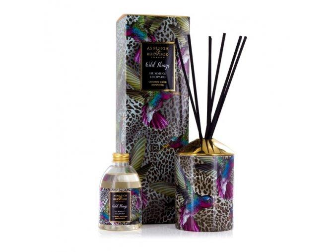 Aroma difuzér WILD THINGS BLACK RASPBERRY, HUMMING LEOPARD 200 ml.