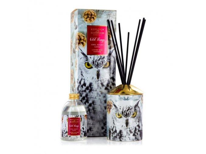 Vánoční aroma difuzér WILD THINGS WHITE CHRISTMAS, OWL NIGHT LONG 200 ml.