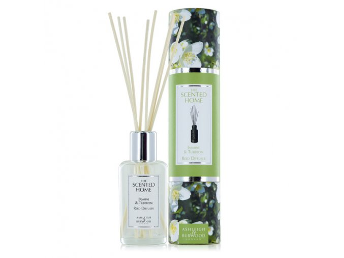 Aroma difuzér THE SCENTED HOME JASMINE & TUBEROSE (jasmín a tuberóza), 150 ml