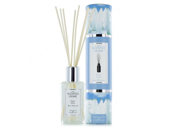 Aroma difuzér THE SCENTED HOME FRESH LINEN (čisté prádlo), 150 ml