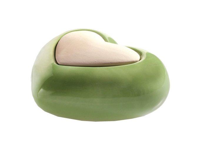 Aroma difuzér keramický Air Design srdce, zelený