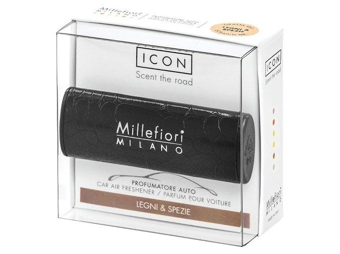 Vůně do auta Millefiori Milano Icon Dřevo a koření černá