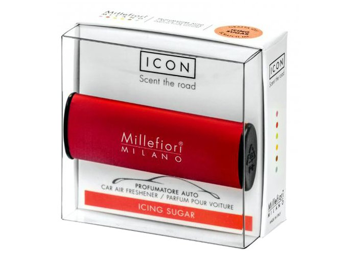Vůně do auta Millefiori Milano Icon Moučkový cukr červená