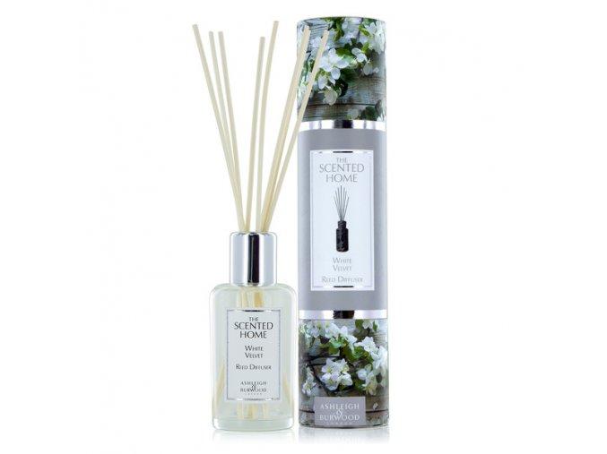 Aroma difuzér THE SCENTED HOME WHITE VELVET (bílý velvet), 150 ml