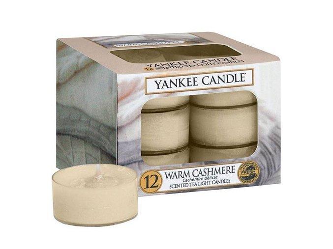 Čajová svíčka Hřejivý kašmír Warm Cashmere, 12 ks