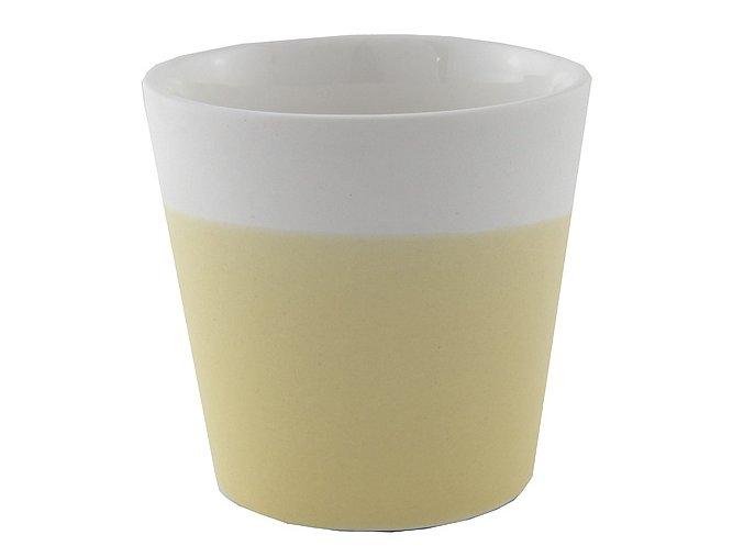 Svícen Yankee Candle – keramický, na votivní svíčku, žlutá pastelová