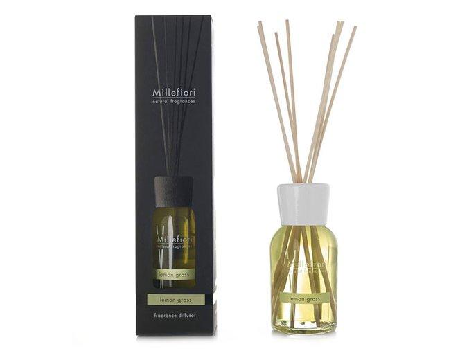 Aroma difuzér Millefiori Milano Natural, Citrónová tráva, 500 ml