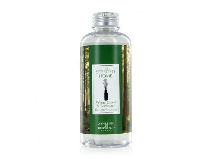 Náplň do aroma difuzéru WHITE CEDAR & BERGAMOT (bílý cedr s bergamotem) THE SCENTED HOME, 150 ml