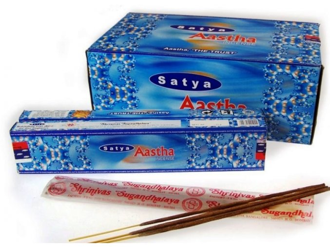 Vonné tyčinky Shrinivas Satya Aastha , 15 g
