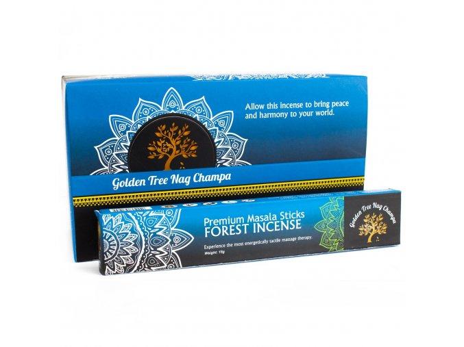 Vonné tyčinky Premium Nag Champa Golden Tree Forest, 15 g