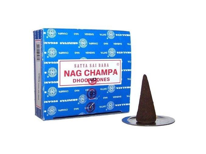 Vonné kužely Shrinivas Satya Nag Champa, 12 ks