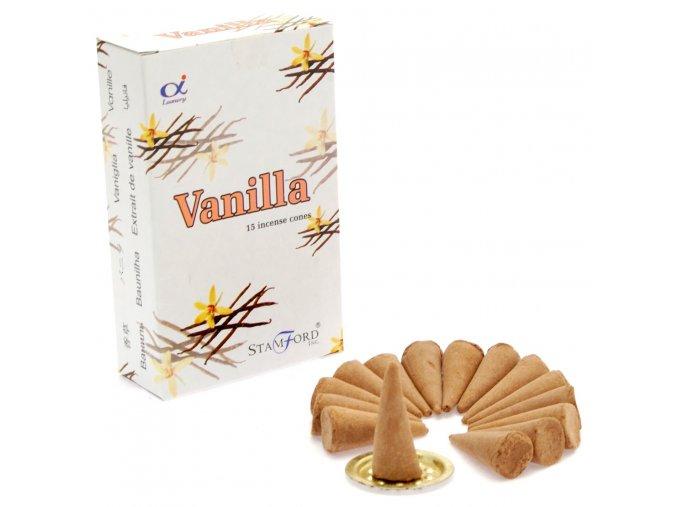 Vonné kužely Stamford Premium Vanilla, 15 ks