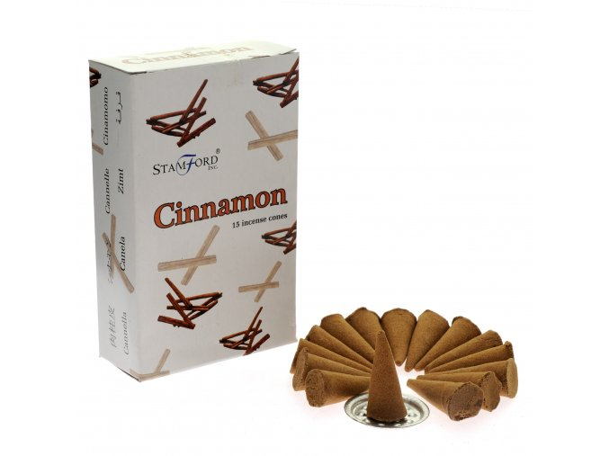 Vonné kužely Stamford Premium Cinnamon, 15 ks