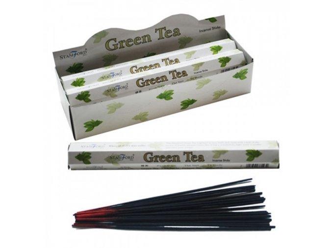 Vonné tyčinky Stamford Premium Green Tea, 20 ks