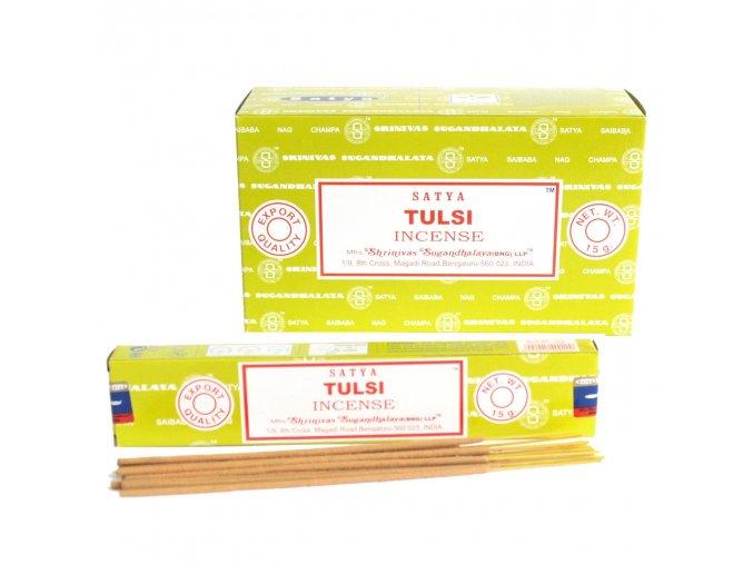Vonné tyčinky Shrinivas Satya Tulsi, 15 g