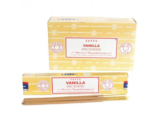 Vonné tyčinky Shrinivas Satya Vanilla, 15 g