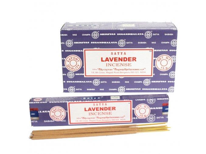 Vonné tyčinky Shrinivas Satya Lavender, 15 g