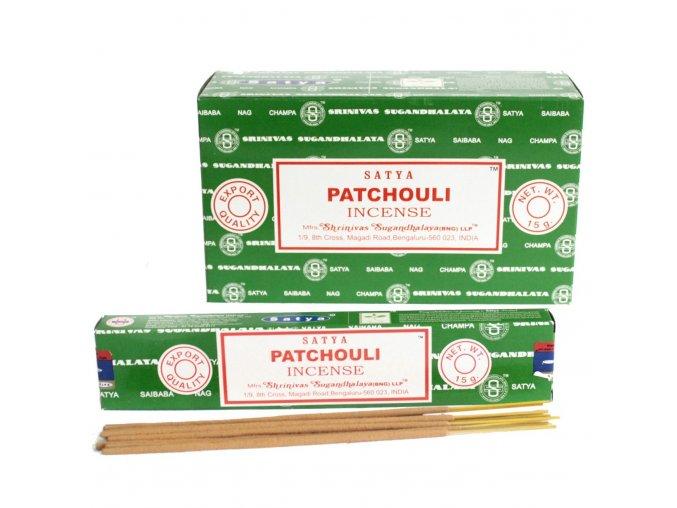 Vonné tyčinky Shrinivas Satya Patchouli, 15 g