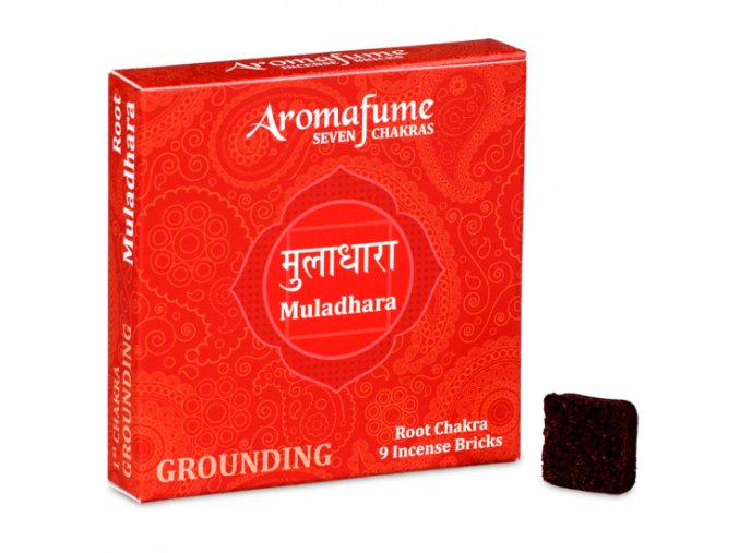 Aromafume vonné cihličky Čakra 7 Muladhara, 9 ks