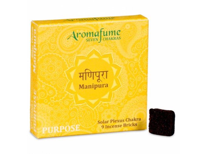 Aromafume vonné cihličky 7 Čaker Manipura, 9 ks